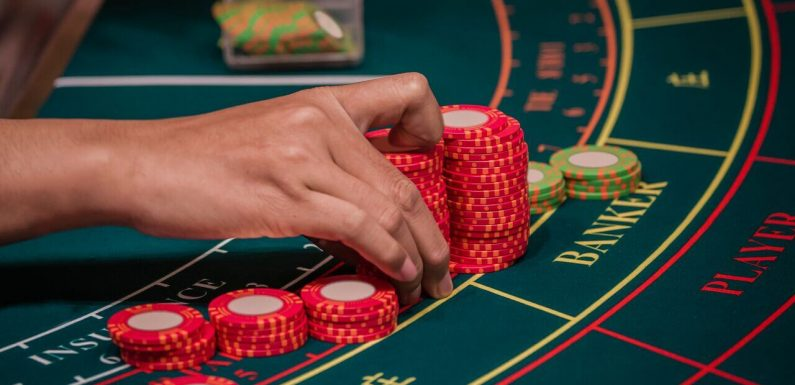 Baccarat strategy at online casino
